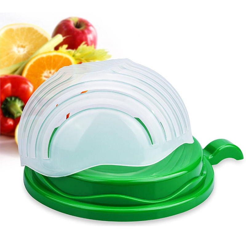 60 Seconds Salad Cutter Bowl Easy Salad Maker Kitchen Tools Fruit Vegetable Fruits Chopper Cutter Quick Kitchen Accessories