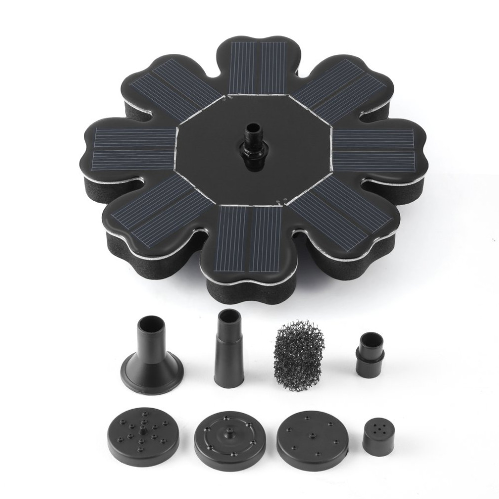 Solar Powered Water Pump Kit with Solar Panel Submersible for Automatical Fountains Pool Waterfalls Pond Garden Plants Watering