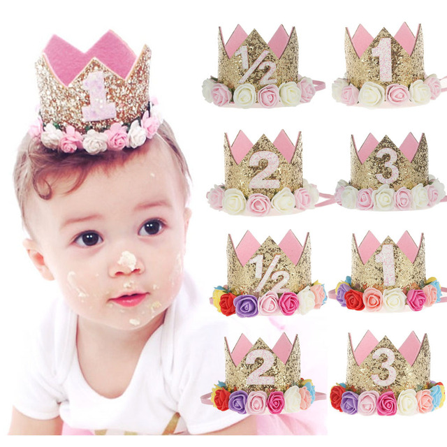 First Birthday Flower Adornment 1 Cap Priness Pink 2 Or 3 Years Old Hat For