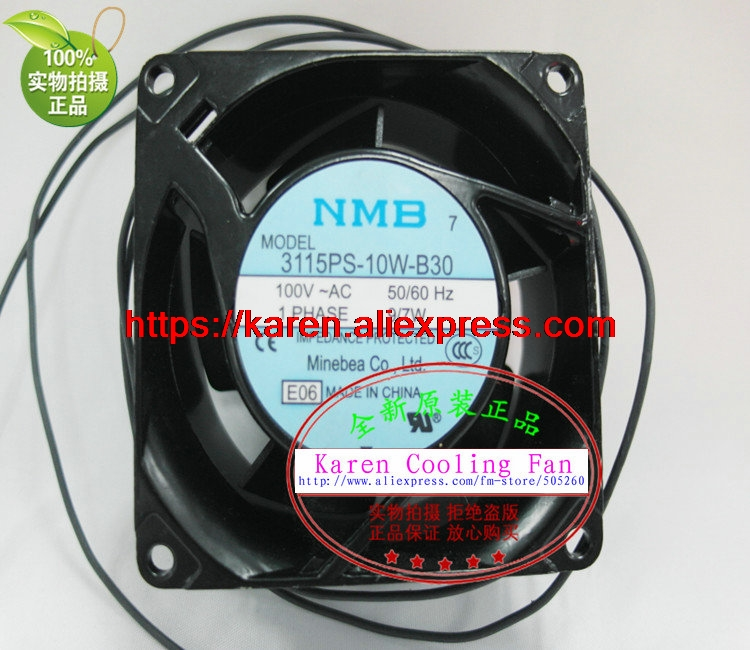 New original NMB 3115PS-10W-B30 AC100V 9/7W 80*80*38MM 8cm axial flow cooling fan new original 3115ps 23t b30 230v 8 10w 8038 aluminum frame axial fan