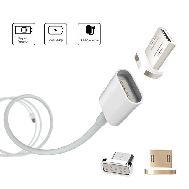 Magnetic 2A Micro USB Charger Cable Adapter For Samsung LG XIAOMI Lenovo HUAWEI Moto HTC Magnet Quick Charging