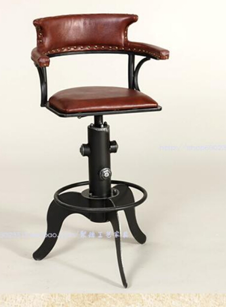 Wrought iron coffee chair. Restoring ancient ways, wrought iron can lift bar chair. The front desk chair. europe type restoring ancient ways wrought iron bar chair lift chair the foot stool
