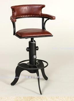 Z kutego żelaza krzesło kawowe Przywracając dawne sposoby z kutego żelaza może podnieść bar krzesło Z przodu krzesła tanie i dobre opinie Meble do salonu Szezlong Meble do domu Nowoczesne Metal