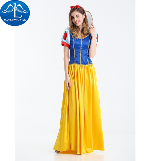 Awesome MANLUYUNXIAO New Movie Character Princess Dress Women Costume Halloween  Costume For Woman Fancy Cosplay Costume