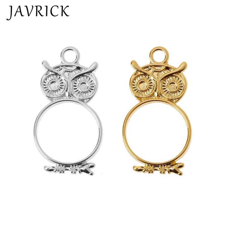 5Pcs Cute Owl Blank Resin Frames DIY Pendant Open Bezel Setting Jewelry Making