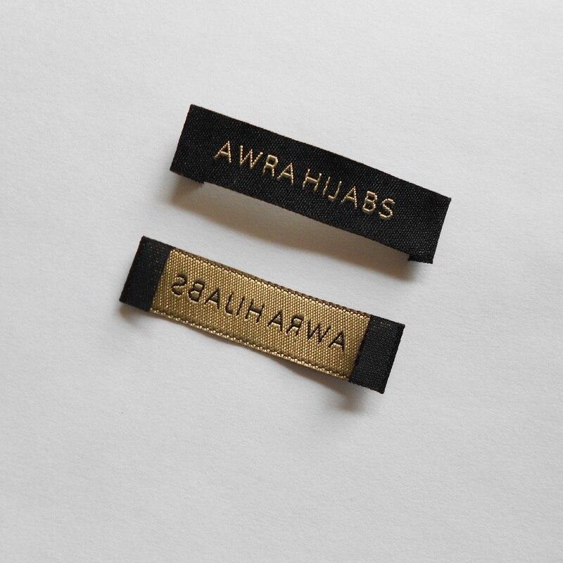 (1000 teile / paket) OEM angepasst ende falten schuh hauptgröße pflege gewebte etiketten damast kleidungsstück kragen label und tags für kleidung