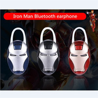 NEW Iron Man Bluetooth Wireless Earphone Superman Stereo Music Earphone Car Hands Free With Mic Cool
