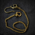 Punk Solid Brass Skull Fob Pants Wallet Chain Trucker Pants Chain Free shipping