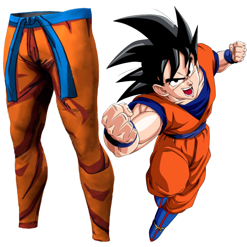 2017 NEW Men Pants Anime Dragon Ball Z Goku Compression Tights Base Layer Tights Men Cosplay Costume Trousers Quick Drying