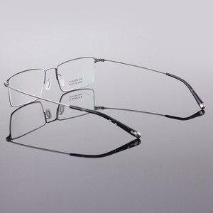 Image 4 - BCLEAR Classic Men Pure Titanium Full Rim Glasses Frames Myopia Optical Frame Ultra light Slim Eyeglasses Frame Black Gray Color