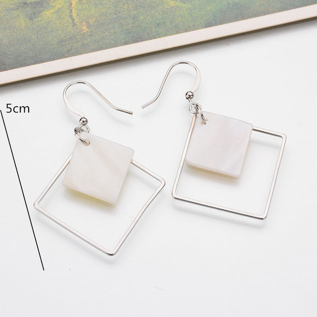 Top Fashion Hollow Square Earrings For Women 1
