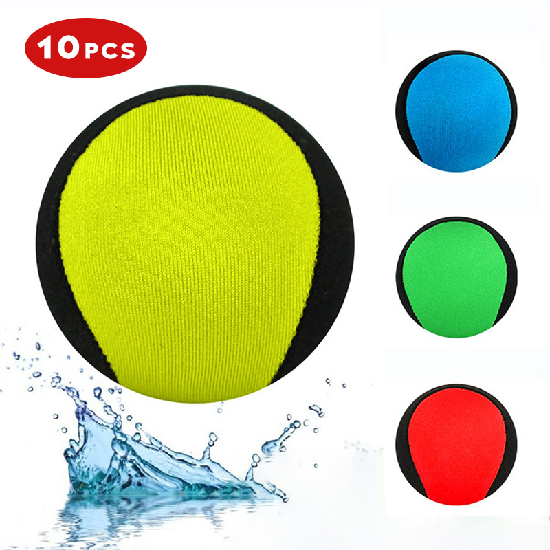 10 PCS Water Bouncing Ball Water Games Toy Gel Ball Best Swimming Pool Game Toys Surf Ball Popular Beach Ball For Adult Kids