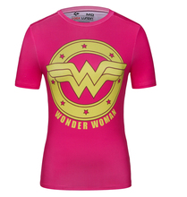 Women's Captain America Batman Superman 3D Printed Quick Dry Compression T-shirt Fitness Clothing Crossfit Shirt Cosplay Tops