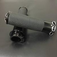 1 Handlebar Motorcycle CNC Aluminum Rubber Gel Hand Handle Grips Bars Ends Dirt Bike Pitbike Motorbike