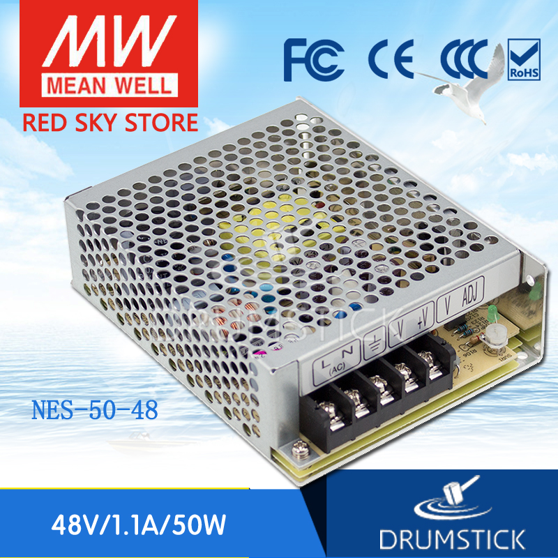 Best-selling MEAN WELL NES-50-48 48V 1.1A meanwell NES-50 48V 52.8W Single Output Switching Power Supply meanwell 12v 350w ul certificated nes series switching power supply 85 264v ac to 12v dc