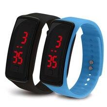 Для мужчин и женщин светодиодный наручные часы второго поколения силиконовые электронные часы для детей мальчиков и девочек студентов спортивные силиконовые электронные часы