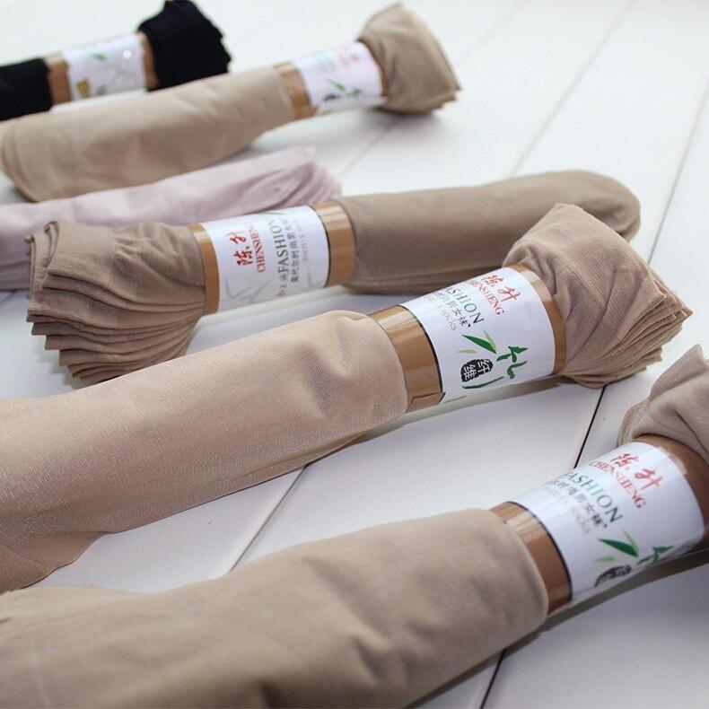 10 пар/лот Лидер продаж Летний стиль шелк Носки Женские низкая цена ощущение прохлады однотонная дышащая Сексуальная кожи носок бесплатная ...