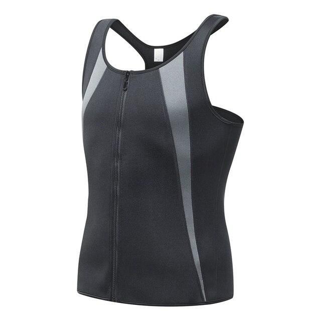 99f2221dd45 Neoprene Corset Men Weight Loss Burn Sexy Slimming Underwear Control Front Zipper  Male Waist corsets sweat