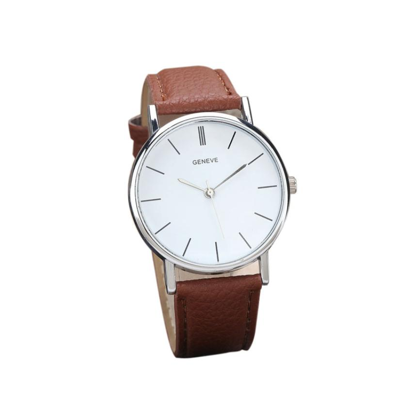 Newly Designed Relogio Feminino Clock  New Womens Retro Design Leather Band Analog Alloy Quartz Wrist Watch Gift