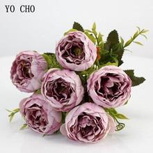 Hình CHO 6 Đầu/Bó Hoa Mẫu Đơn Nhân Tạo Hoa Lụa Hoa Mẫu Đơn Hoa Trắng Hồng Cưới Trang Trí Nhà Cửa Giả Hoa Mẫu Đơn Hoa Hồng hoa