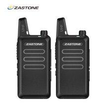 2 pçs/lote ZT X6 Zastone UHF 400 470 MHz handheld Conjunto de Equipamentos de Comunicação de Rádio Portátil Walkie Talkie