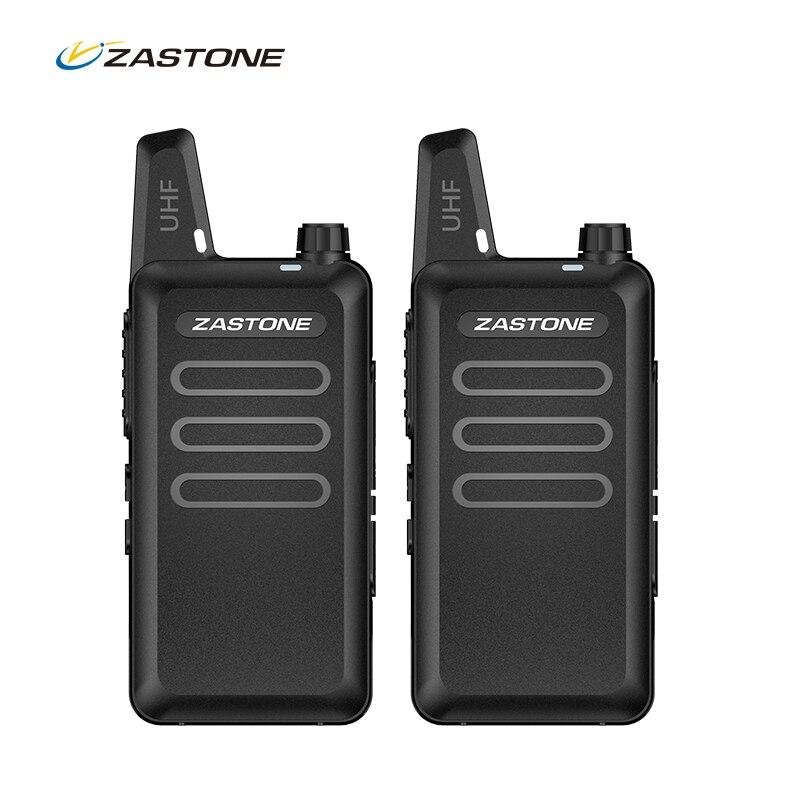 2pcs Zastone ZT-X6 Ham Walkie Talkie UHF400-470MHz 16 Channel Mini Two Way Radio
