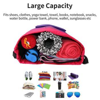 Bag  Summer Waterproof Gym Bag Sports Bag Travel Drawstring Bag Outdoor Bag Backpack for Training Swimming Fitness Bags Softback 6