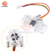 Capteur de débit deau Transparent, DN15 5V, DC, capteur de débit deau pour salle de mesure, indicateur de débit, compteur G1/2 pouces