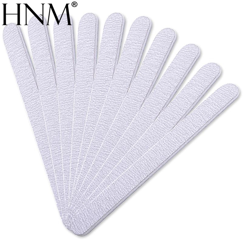 HNM 10pcs Professional Nail Files Grey Sanding Nail Files Tools For Salon UV Gel DIY Tips Pedicure Tool Nail Art Manicure Set 1 roll 10m clear nail double side nail adhesive tape strips tips transparent manicure nail art tool