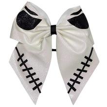 7 Inch Halloween Cheer Bow big eyes Hair Bows  cheer bows Ribbon with Ponytail for Girls Gifts Mom Cheerleader