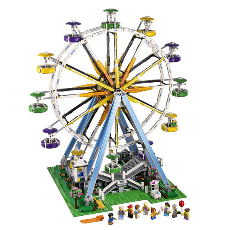 Compatible legoing City the Creator Building Blocks Ferris wheel 15012 Compatible Bricks 10247 Collection Toy for Children Gifts led light for lego 10247 building blocks bricks creator city street ferris wheel compatible 15012 toys light with battery box