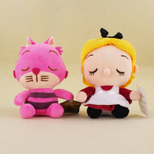New Alice In Wonderland Anime Alice & The Red Queen Cheshire Cat Stuffed Plush Toy Doll Birthday Gift Collection