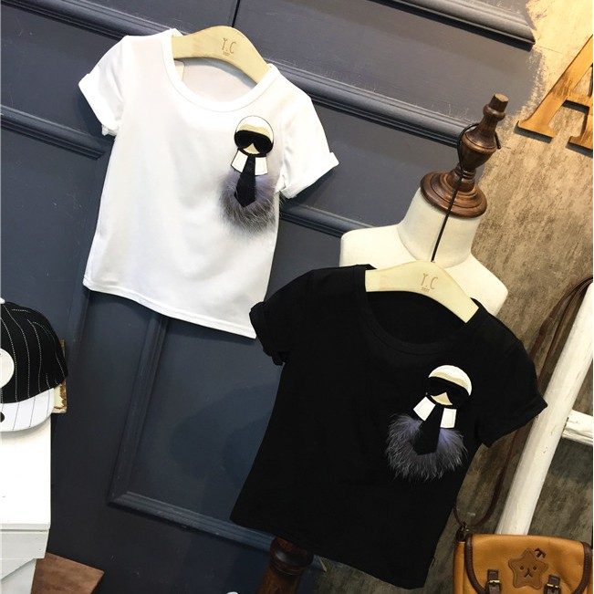 Children s clothing 2017 summer new boys and girls round neck short sleeve T shirt jacket