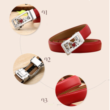 Women's Stylish Automatic Buckle Leather Belt