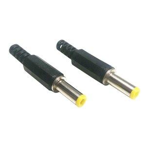6 шт горячий 5,5 мм x 2,5 мм DC штепсельные вилки питания мужские коннекторы для бочки черный и желтый