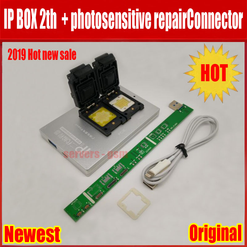 NEW IPBox V2 IP BOX 2th NAND PCIE 2in1 High Speed Programmer+photosensitive repairConnector+for iP7 Plus/7/6S / 6plus /5S/5C /5