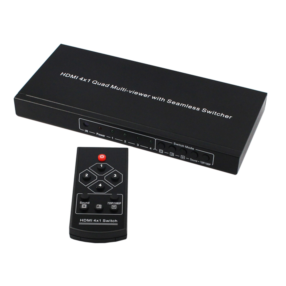 Romantisch Kvm-switch Hdmi Bildschirm Video Splitter Prozessor 4in 1 Heraus Screen Split Nahtlose Kvm-switch 4 Port NüTzlich FüR äTherisches Medulla Kvm-switches