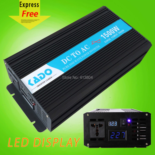 LED Display High Frequency 1500w off grid Pure Sine Wave solar Inverter DC to AC voltage converter home generator car inverter