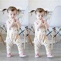Otoño Del Bebé Del Mameluco Recién Nacido Del Bebé Muchachas de Los Cabritos Ropa Linda Encantadora Floral Sin Mangas Del Mameluco Del Mono Playsuit Trajes