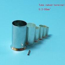 100 шт. EN7506/7508/7510/7512 трубки голый обжимной Cooper наконечники комплект провода Медь обжимной соединитель изолированный кабель Pin-код