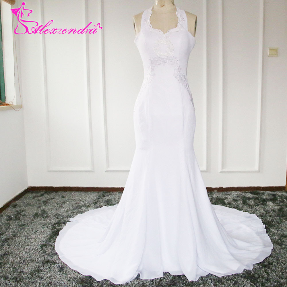Real photos romantic open back lace wedding dresses for Trumpet mermaid sweetheart wedding dress