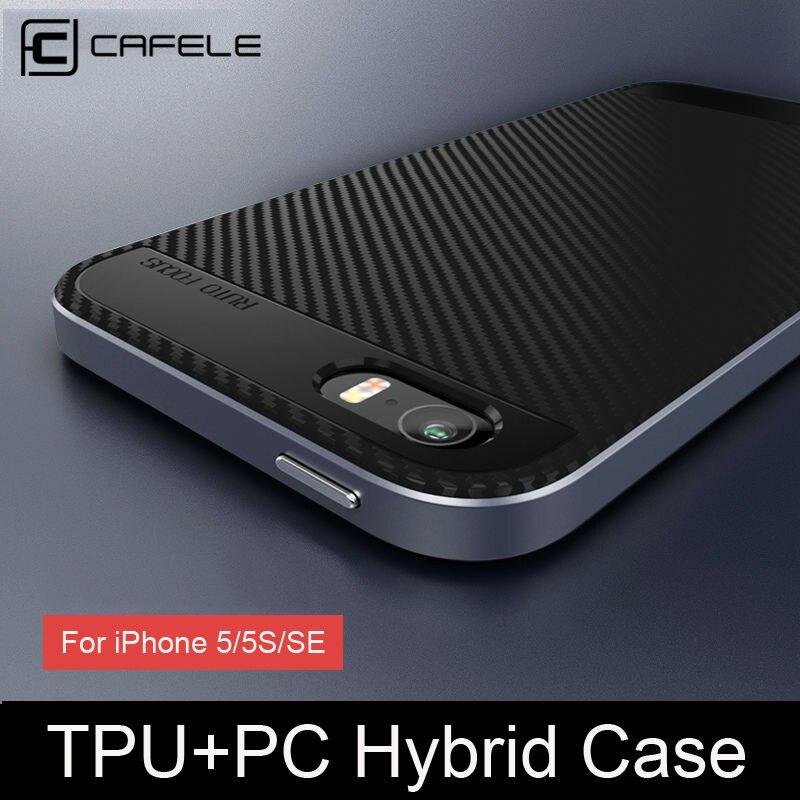 CAFELE 5S Hybird Anti Golpe Caja Del Teléfono Para El Iphone Caja de Lujo Suave