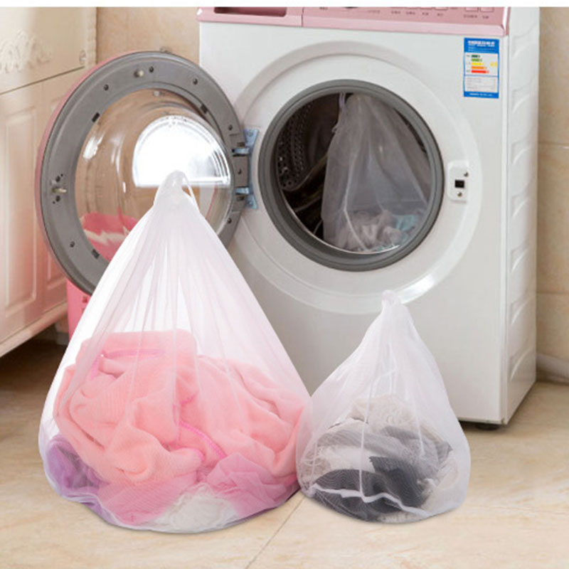 1pcs Nylon Drawstring Bra Underwear Laundry Bags Baskets Mesh Bag Protective Bags Clothing Care Cleaning Tools