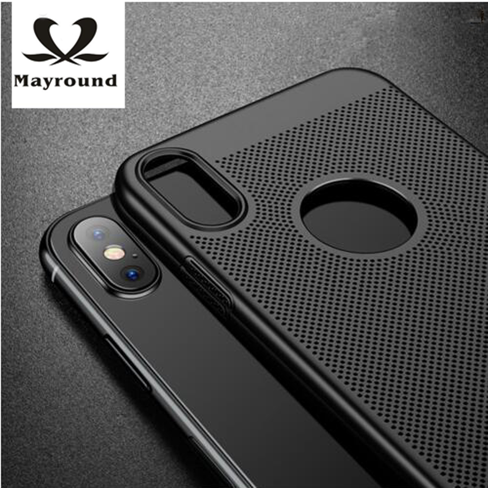 MAYROUND Ultra Thin Breathable shell for Apple iPhone ten X 10 case Shell Dirt-Resistant Matte Plain Hard Shockproof Cover Cases