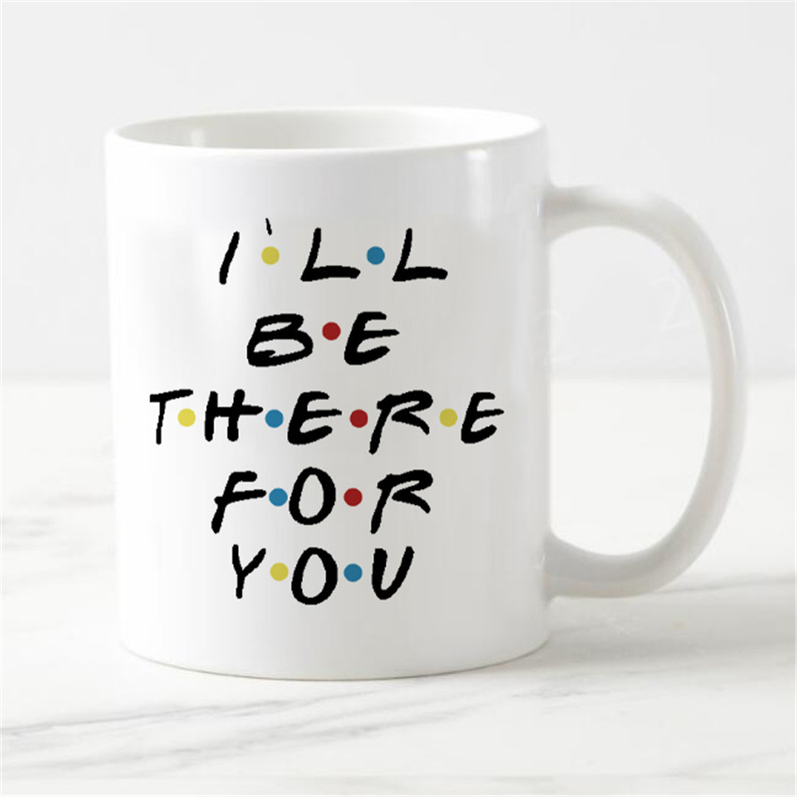 Interesting Friends TV I'll be there for your friends Cup of coffee beer Beer cups Novelty Best friends Beast Office Gifts Frien image