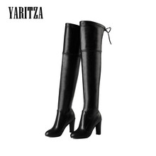 YARITZA 2017 New Arrival Women Thigh High Boots Over the Knee High Quality Winter Spring Boots Women Thin Leg Fashion Shoes