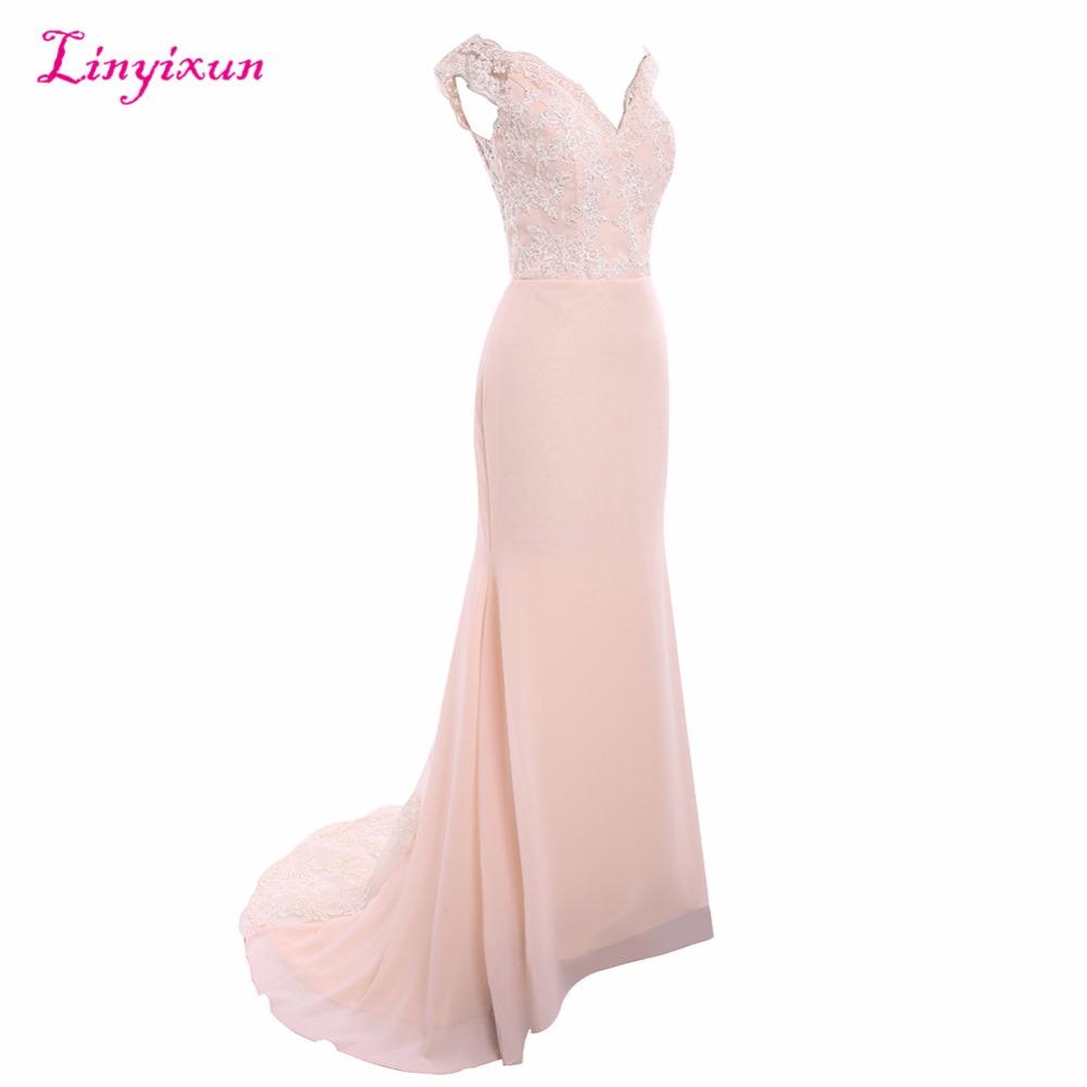 Sweetheart Lace See Through Mermaid Bridesmaid Dress