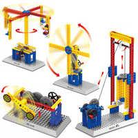 76 teile/satz Maschinen Blöcke Elektrische Spielzeug Karussell Kunststoff Modell Kits Gebäude Spielzeug Blöcke Ziegel Kinder DIY Spielzeug Kompatibel Geschenke