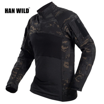 Army Military Tactical Shirt Long Sleeve Combat Shirts Quick Dry Men Long Sleeve Camouflage Clothes Outdoor Hiking Hunting Shirt