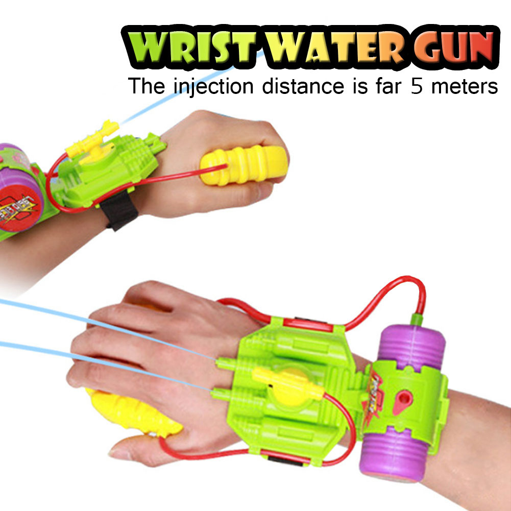 Wrist Water Gun 5M Range Plastic Swimming Pool Beach Outdoor Shooter Toy Sprinkling Toys For Children Color Random